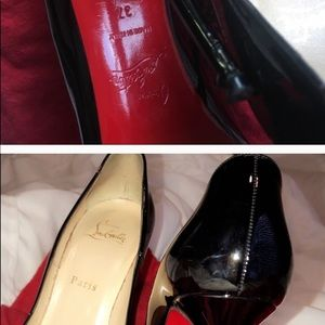 Louboutin So Kate black leather heels size 37
